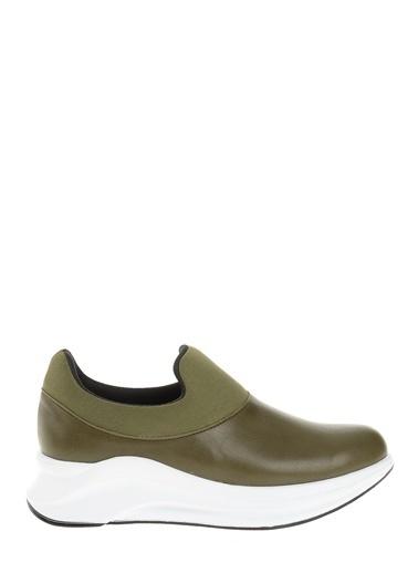 Derigo Dolgu Topuklu Ayakkabı Yeşil